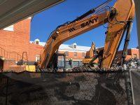 Demolition in progress at back of CUB