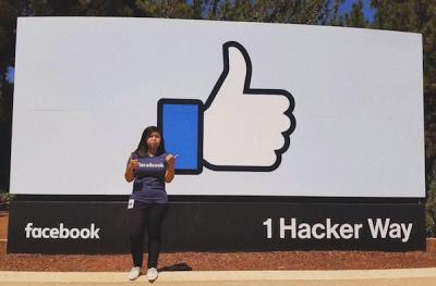 Erica Kok outside Facebook office