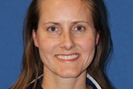 mugshot of new rowing head coach Katie Thurstin