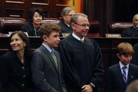 Stetson Law professor Michael Allen celebrates investiture as federal judge