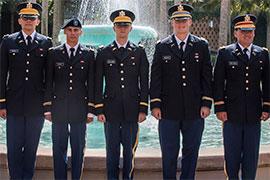 Saluting New Second Lieutenants