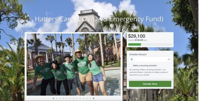 screengrab of fundraising website