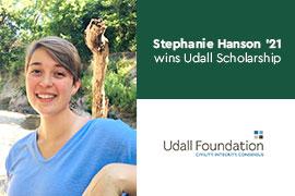 Stephanie Hanson wins Udall Scholarship