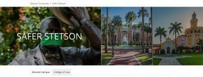 screenshot of photo on Safer Stetson website