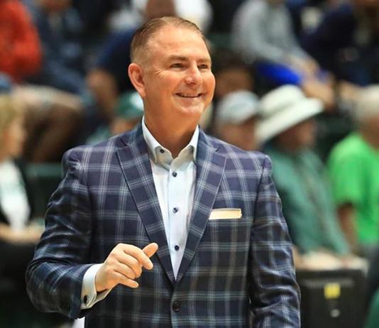 Coach Donnie Jones on the basketball court