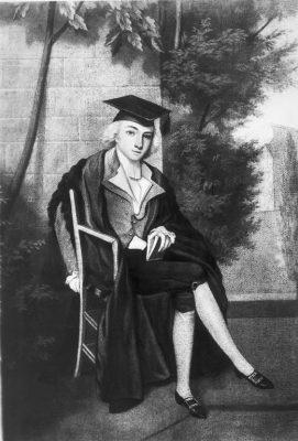 drawing of James Smithson