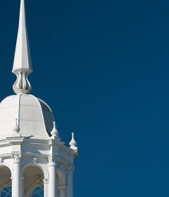 White cupola atop Elizabeth Hall