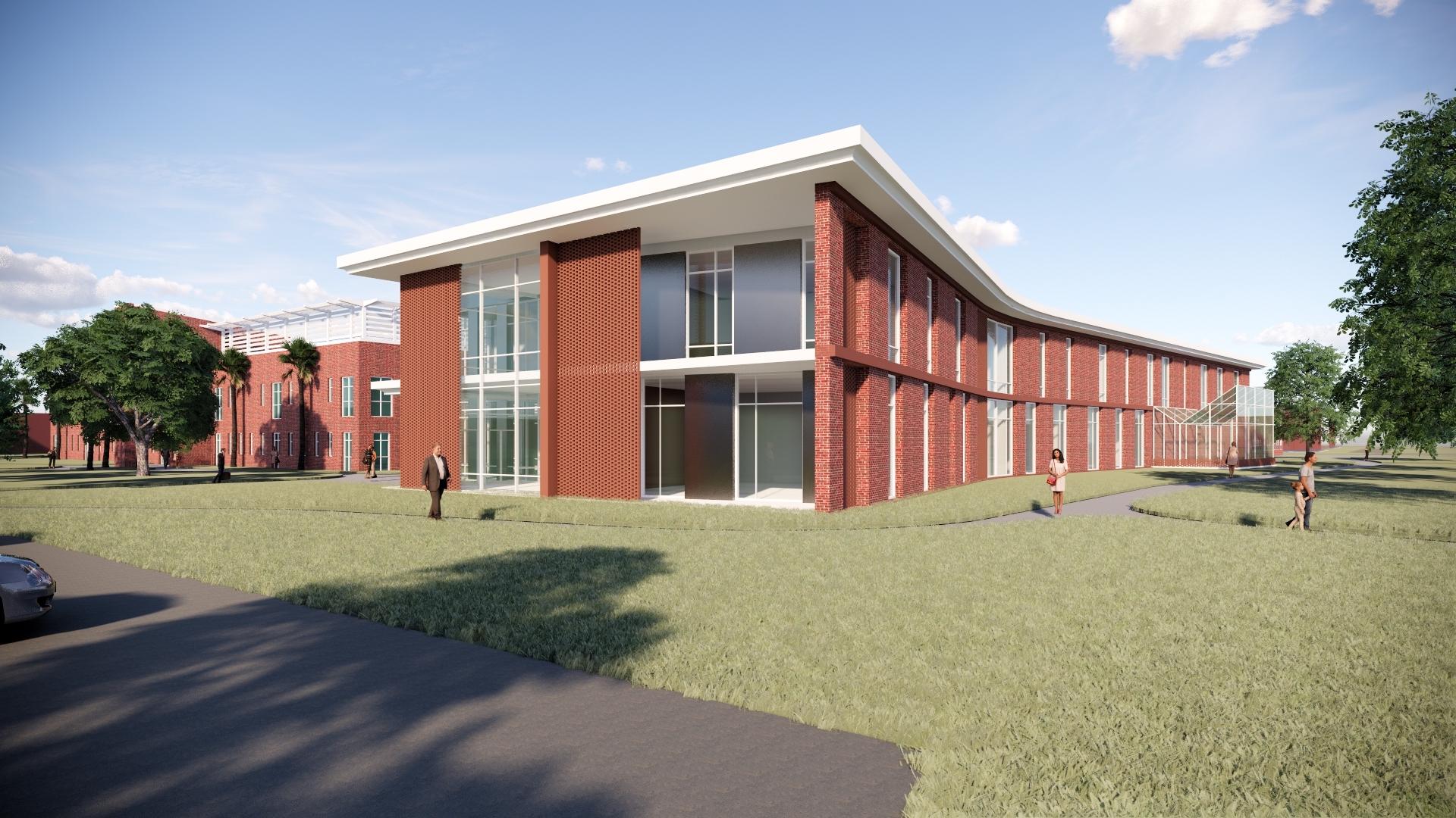 rendering of Brown Hall