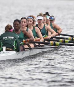 Women's Rowing Team in action