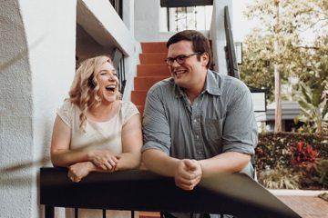 photo of the couple outside