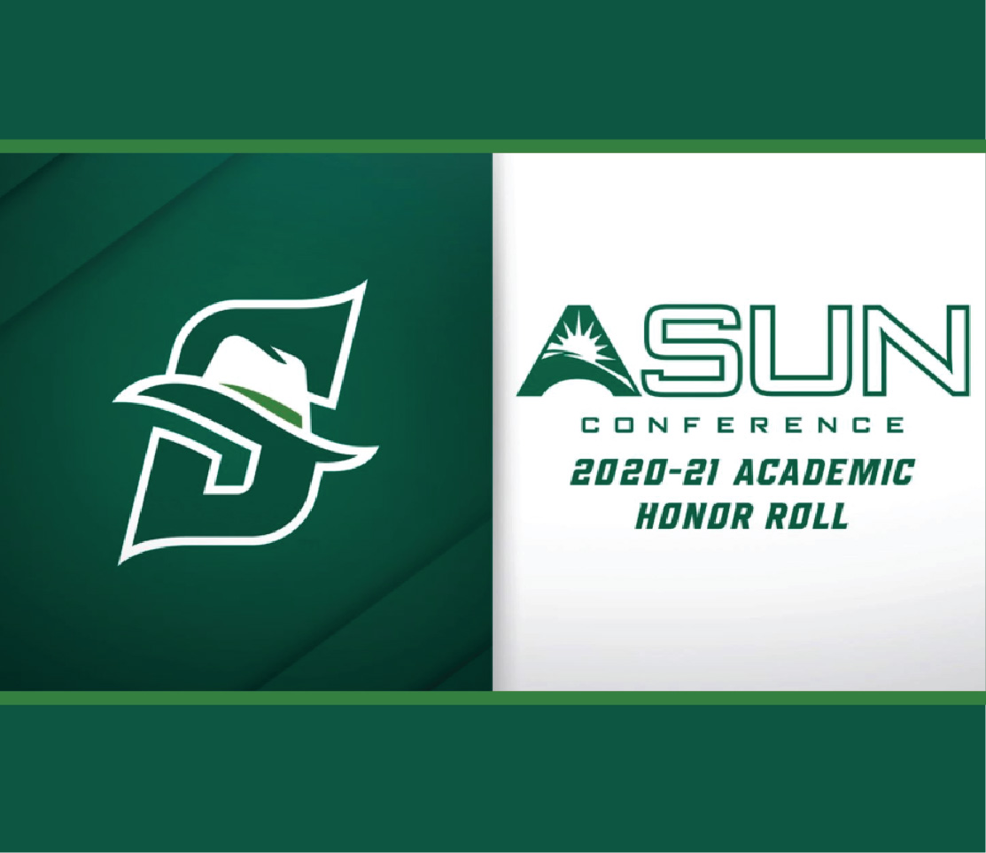 graphic with the Stetson logo and ASUN Honor Roll