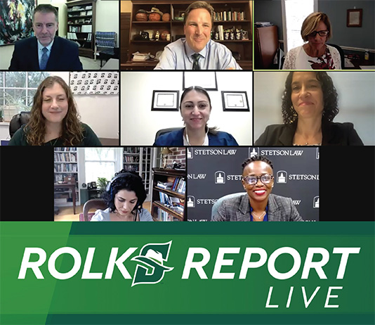 Screenshot of Zoom meeting with Rolks Report Live logo.