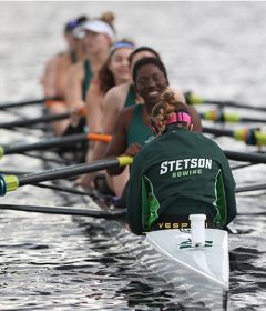 Women's rowing team on the water